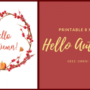 Hello Autumn Printable