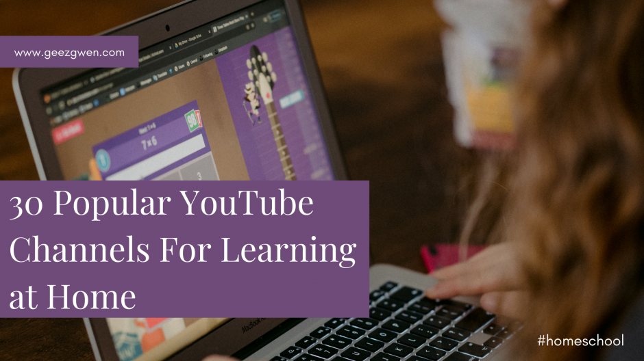 30 Popular YouTube Channels For Learning at Home