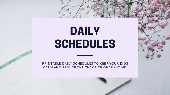 Printable Daily Schedules