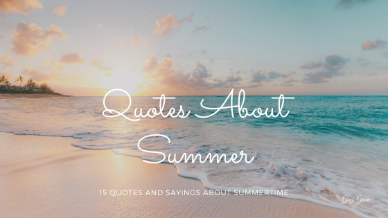 Quotes and Sayings Summer