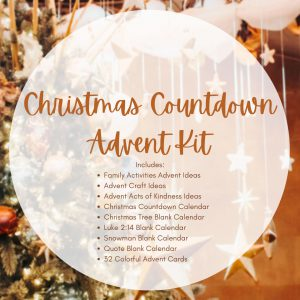 Christmas Countdown Advent Activity Planning Kit with Calendars