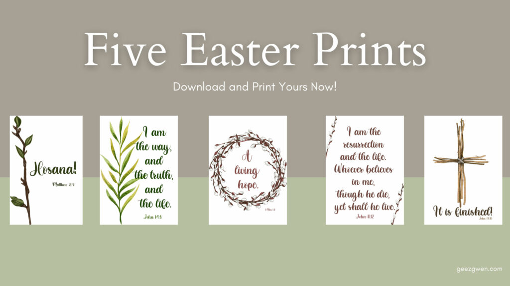 Five Free Easter Prints