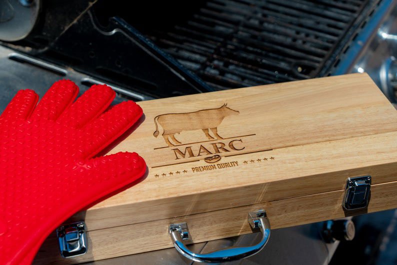 Personalized Grill Set Gift Idea for Father's Day