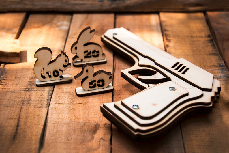 Rubber Band Gun for Father's Day Gift Idea