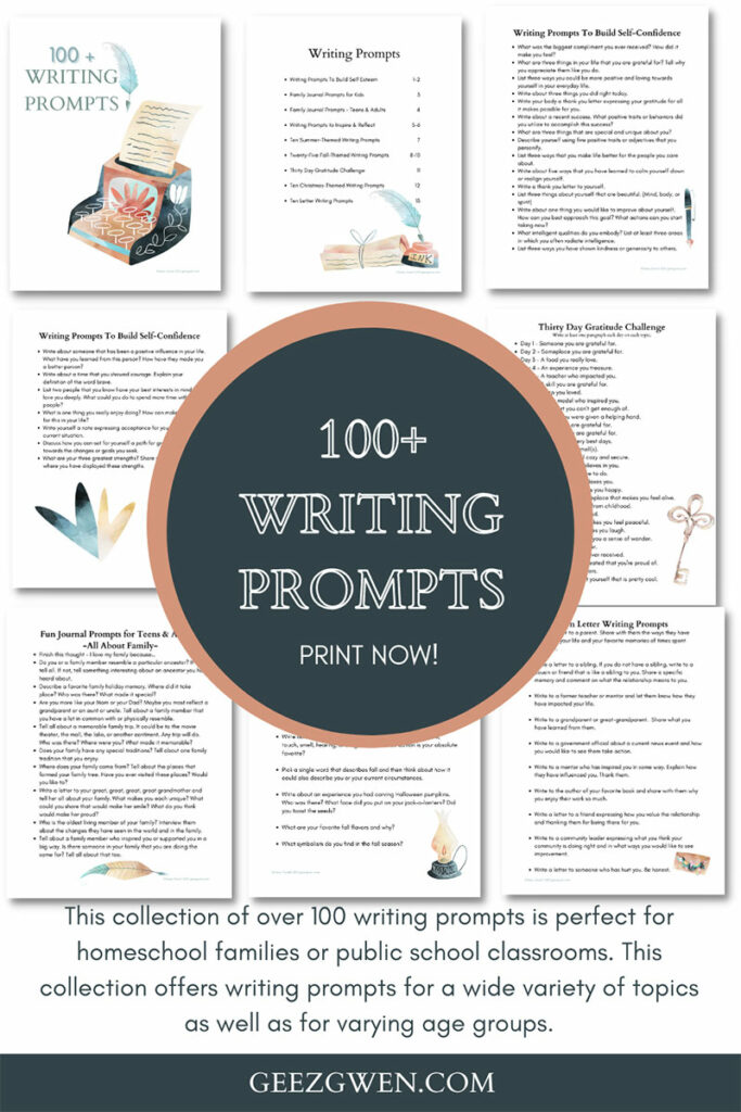 100 + Writing Prompts Booklet