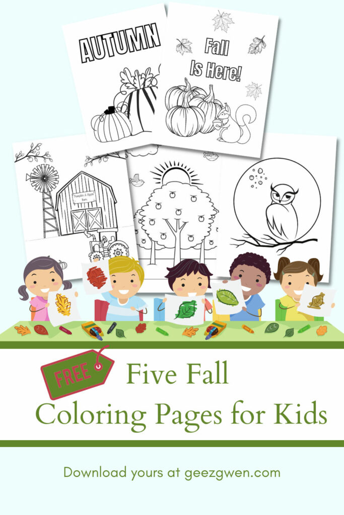 Five Fall Coloring Pages for Kids
