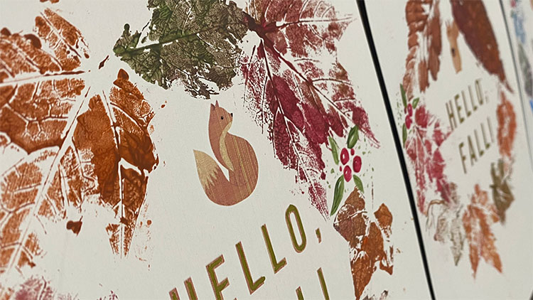 Fall Craft for Kids - Pressed Leaf Wreath Painting