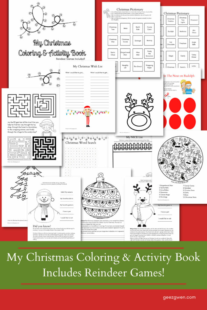 Christmas Activity and Games Workbook