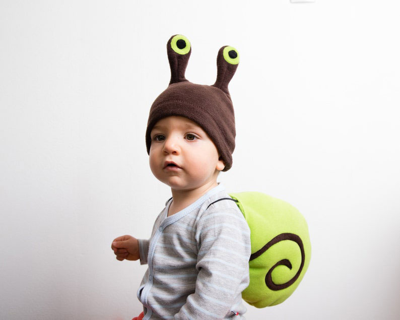 Snail Costume for babies and kids.